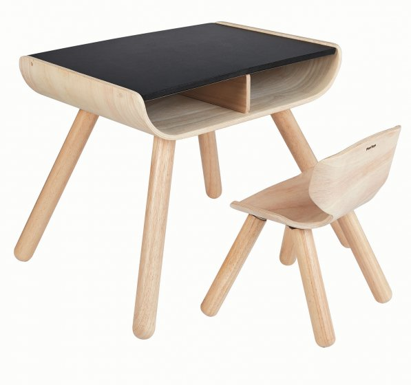 Plan Toys Black Table & Chair