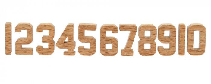 Reel Wood Number Blocks Set
