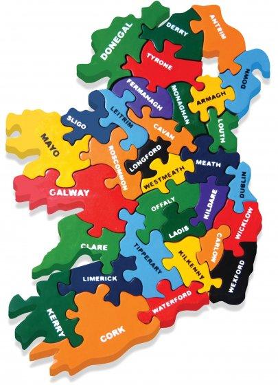 Alphabet Jigsaws Wooden Map of Ireland