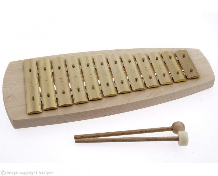 Auris Block Diatonic Glockenspiel – 12 Note