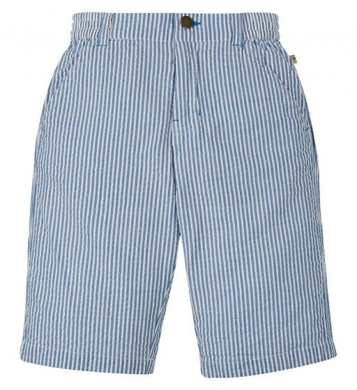 Frugi seth seersucker elasticated organic cotton shorts