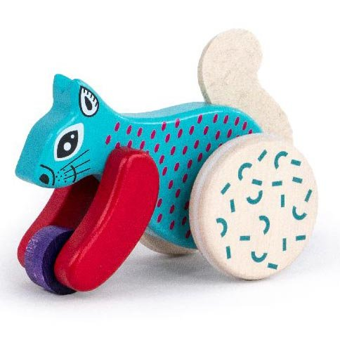 Bajo Blue Jumping Squirrel On Wheels