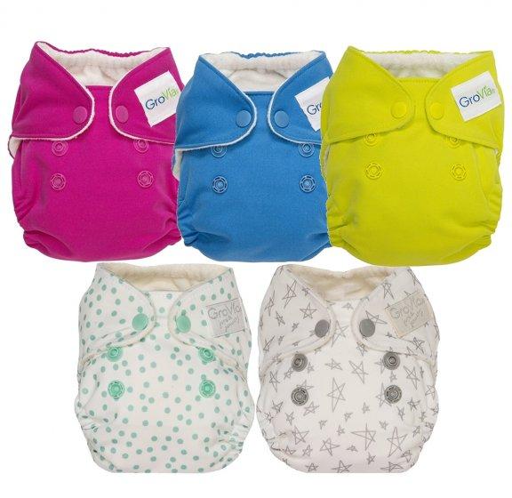 GroVia Newborn AIO Nappy - 5 Pack