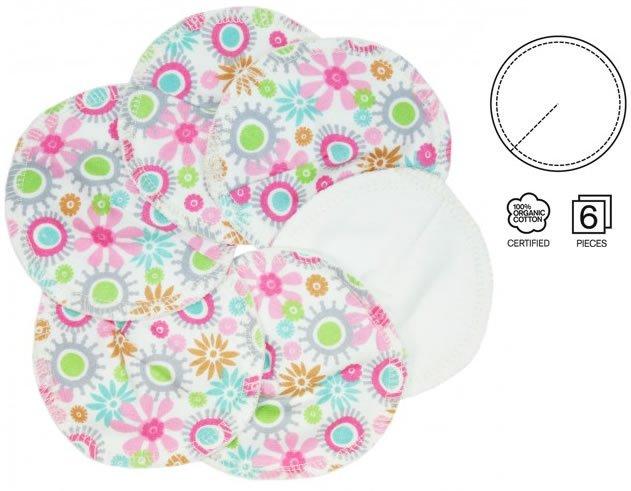 Imse Vimse Flower Print Breast Pads 3 Pairs