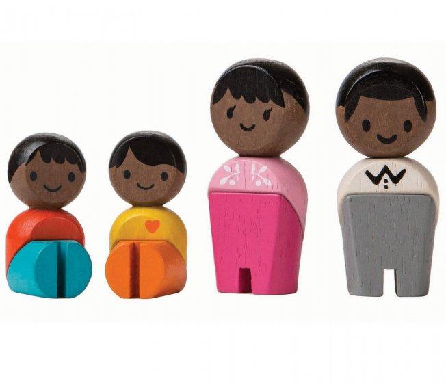 Plan Toys Black Skin, Black Hair Family PlanWorld