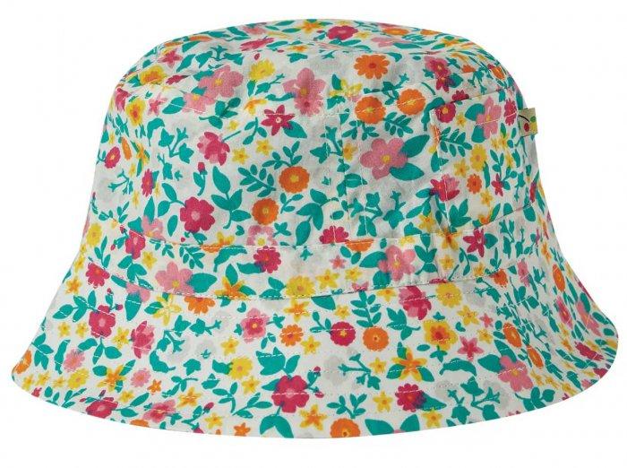 Frugi Hattie Reversible Hat - Ditsy Flower Valley