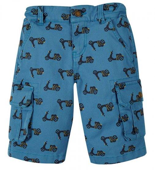 Frugi Explorer shorts with bike print and pockets