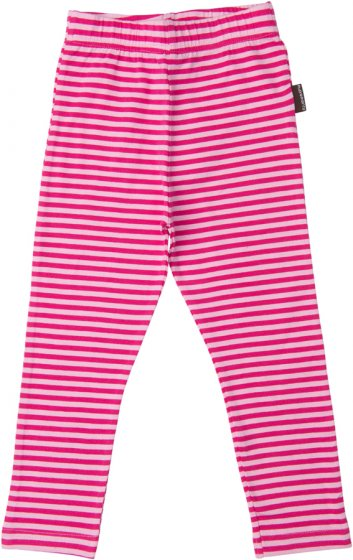 Maxomorra Cerise Stripe Leggings