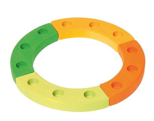 Grimm's 12-Hole Green-Orange Wooden Ring