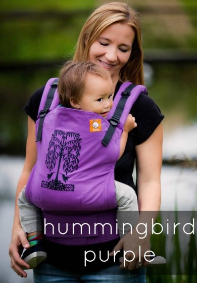 Tula Standard Baby Carrier - Hummingbirds Purple