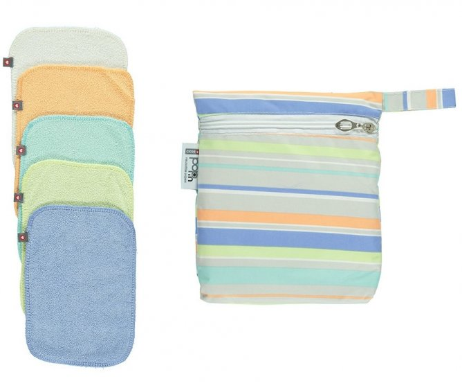 Pop-In Pastel Bamboo Baby Wipes x10