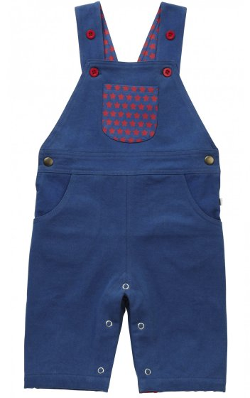 Piccalilly Federal Blue Star Dungarees