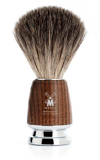 MÜHLE Rytmo Steamed Ash Black Fibre Shaving Brush
