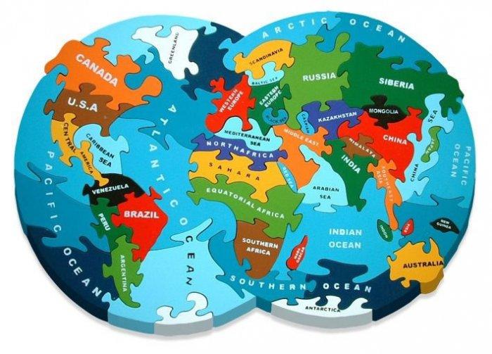 AlphabetJigsaws World Map