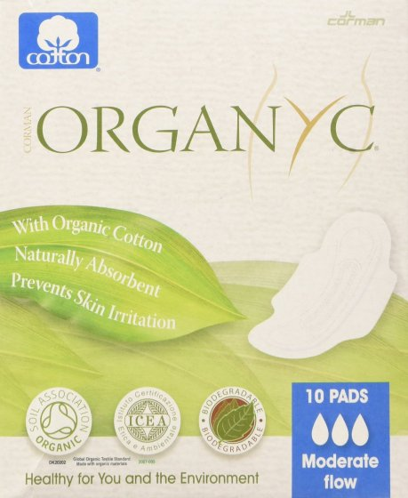Organyc 10 Moderate Flow Day Pads