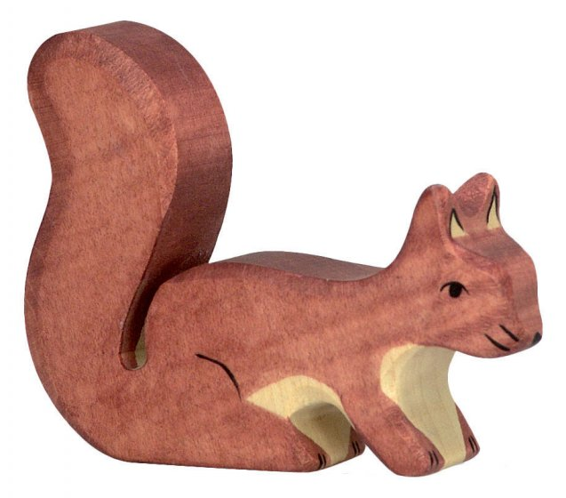 Holztiger Brown Standing Squirrel