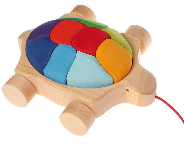 Grimm's Rainbow Turtle Pull Along