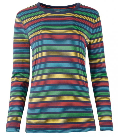 Frugi Adult Tobermory Rainbow Stripe Favourite Top