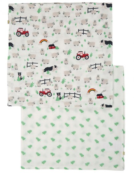 Frugi Tractor Lovely Muslin 2 Pack