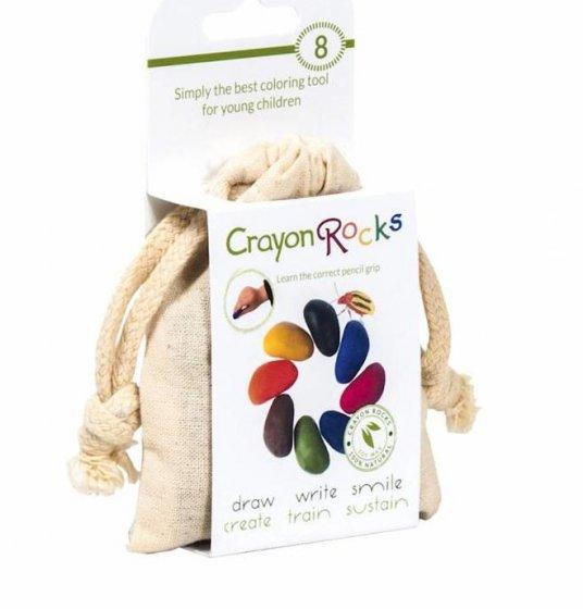 Crayon Rocks Bag of 8 in Cotton Muslin Bag