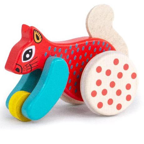 Bajo Red Jumping Squirrel On Wheels
