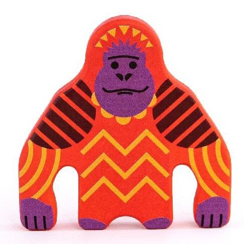 bajo wooden painted toy Orangutan figure