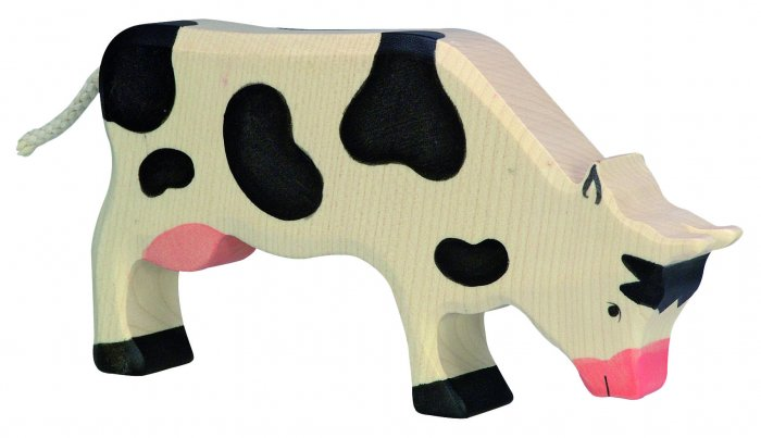 Holztiger Black Grazing Cow