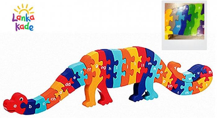 CYMRAEG Lanka Kade Welsh Alphabet Dinosaur A-Y Jigsaw