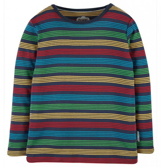 Frugi Favourite LS Tee - Tobermory Rainbow Stripe