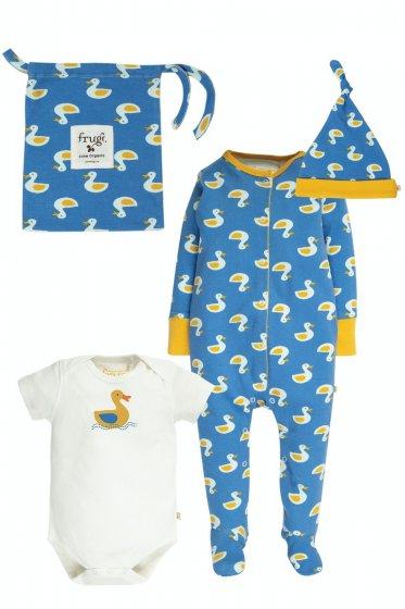 Frugi Puddle Ducks Baby Gift Set