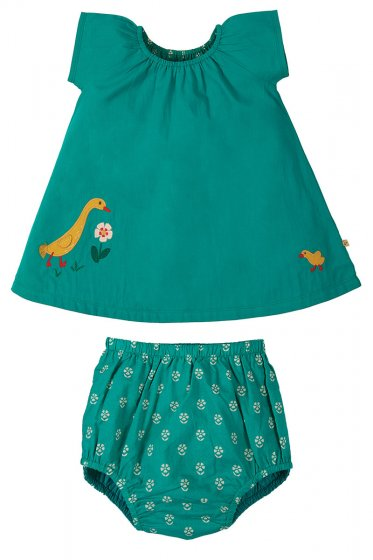 Frugi octavia reversible outfit jewel/duck
