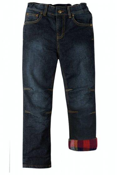 Frugi Dark Wash Denim Lumberjack Lined Jeans