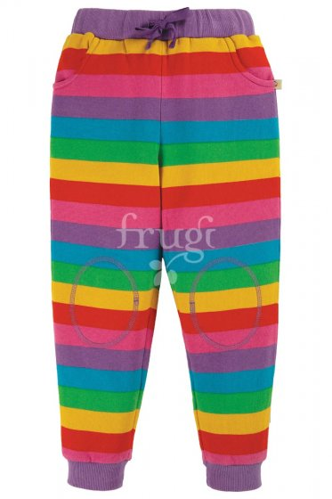 Frugi Foxglove Rainbow Stripe Printed Snug Joggers