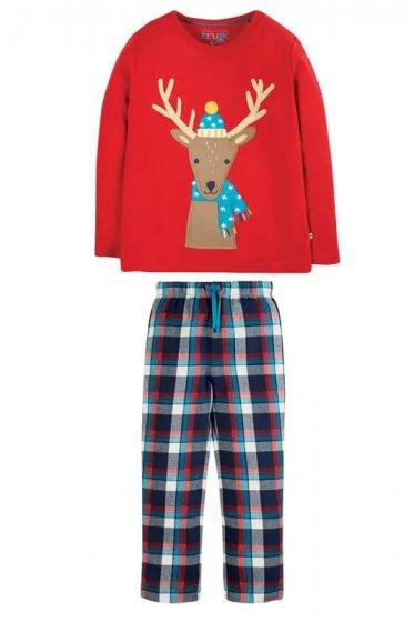 Frugi Tango Reindeer Caden Check Pyjamas