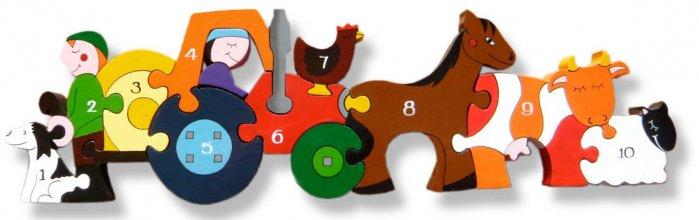 Alphabet Jigsaws Wooden Farm