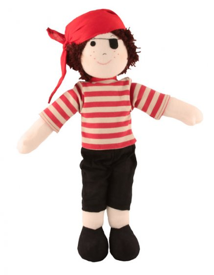 Fair Trade Rag Doll - Pirate
