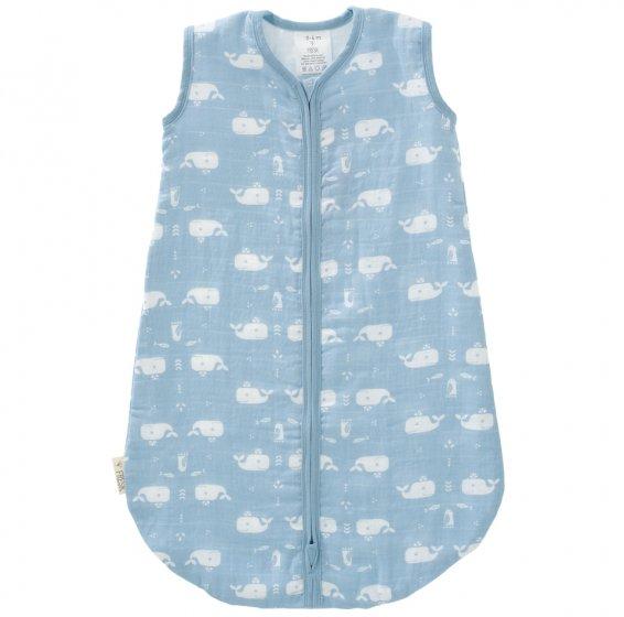 Fresk Muslin Lightweight Sleeping Bag, Blue Whale