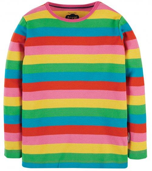 Frugi Favourite LS Tee - Foxglove Rainbow Stripe