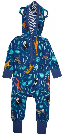 Piccalilly Wildlife Hooded Playsuit
