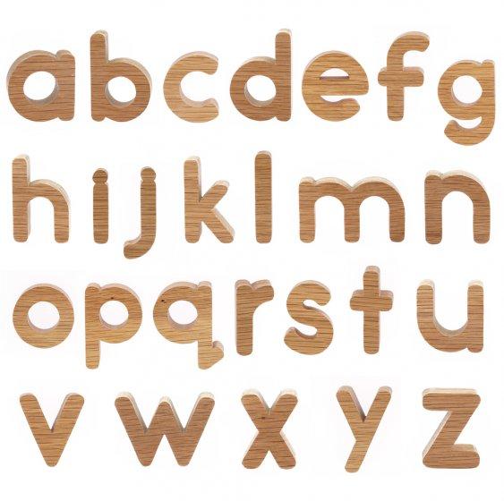 Reel Wood Lowercase Letters Alphabet Set
