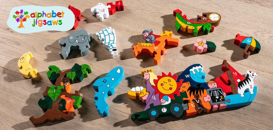 alphabet wooden jigsaws